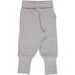 Maxomorra pants rib Light grey melange 86/92