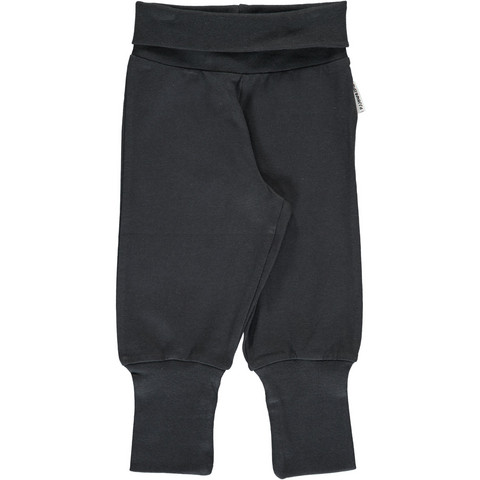 Maxomorra pants rib Black 74/80