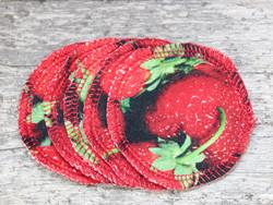 Pesulaput 5 kpl setti trikoo mansikat punainen MINI