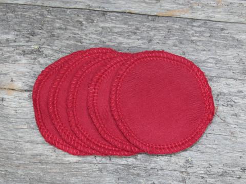 Pesulaput 5 kpl setti trikoo punainen MINI