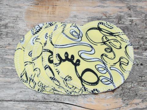 Pesulaput 5 kpl setti trikoo spiraali keltainen
