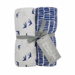 Imse Vimse kapaloharso Blue bird and slate 120x120 cm 2/pak