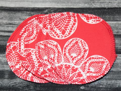 Pesulaput 5 kpl setti trikoo kukka punainen