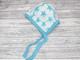 Myllymuksut merinovillainen vauvalakki tähti turkoosi NB 0-6 kk