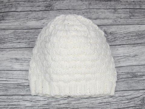 Royalkestot villainen neulepipo Pikkuruutu valkea NB 34-42 cm