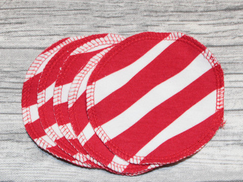 Pesulaput 5 kpl setti trikoo polkaraita punainen