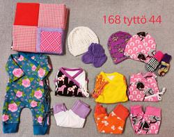 Pakkaus tyttö koko 44 nro 168