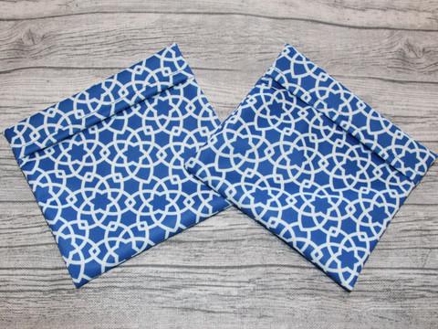 Sidetasku tähtikuvio sininen 14x13 cm