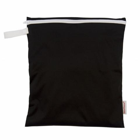 Imse Vimse BIGGER wet bag Black 28x25 cm