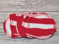 Pesulaput 5 kpl setti trikoo raidat punainen MINI