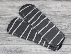 Normaaliside BASIC trikoo Raidat tumma harmaa