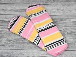 Normaaliside BASIC trikoo Raidat pinkki-keltainen