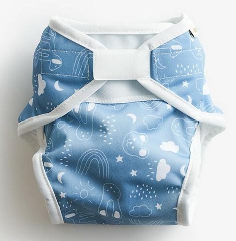 Imse Vimse AIO vaippa Blue teddy tarrat S 4-8 kg
