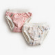 Imse Vimse kuivaksiopetteluhousut Pink dots/white teddy 2/pak XL 11-14 kg