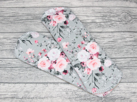 Pikkuhousunsuoja trikoo SENSITIVE delikate flowers harmaa