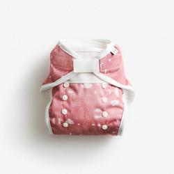 Imse Vimse 1-koon kuorivaippa Rusty pink teddy