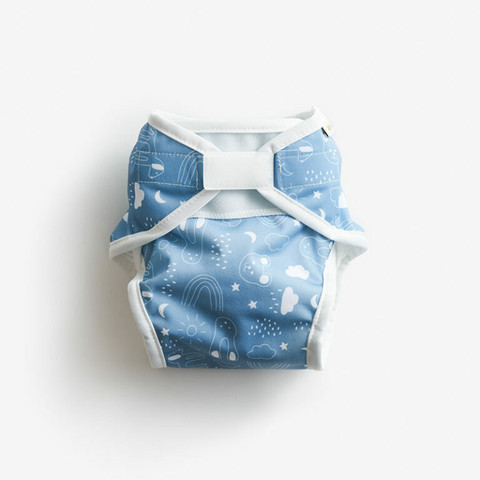 Imse Vimse Soft vaippakuori Blue Teddy M 8-11 kg