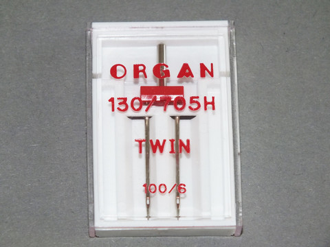 Kaksoisneula Organ Twin 130/705H, 100/6 mm