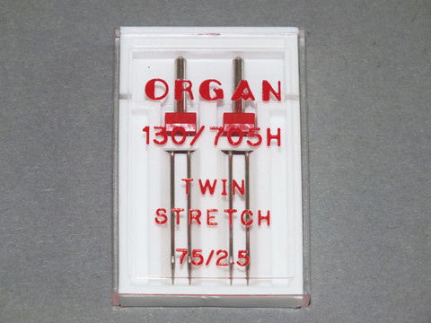 Kaksoisneula Organ Twin Stretch 130/705H 75/2,5mm 2/pak