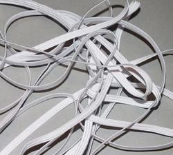 Kuminauha valkoinen 5 mm leveä 5 metrin pala