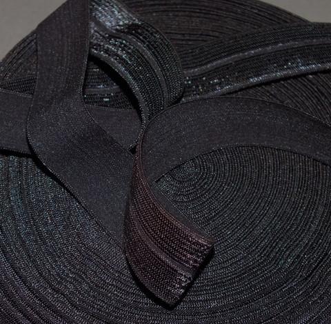 Joustokanttinauha tumma harmaa kiiltävä per 10 cm