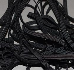 Kuminauha musta 6 mm leveä 5 metrin pala