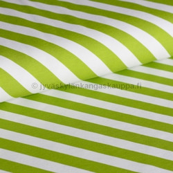 Diagonal stripes grass green digiprintti trikoo per 10 cm ***