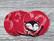 Pesulaput 5 kpl setti trikoo karkkikeppi punainen MINI
