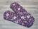 Normaaliside BASIC flanelli Sydäntassut violetti