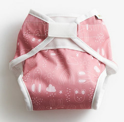 Imse Vimse AIO vaippa Rusty pink teddy tarrat S 4-8 kg