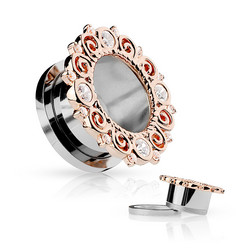 Tunneli 10mm, Rose Gold Vintage Rim