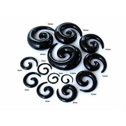 Venytyskoru, spiraali musta 20mm