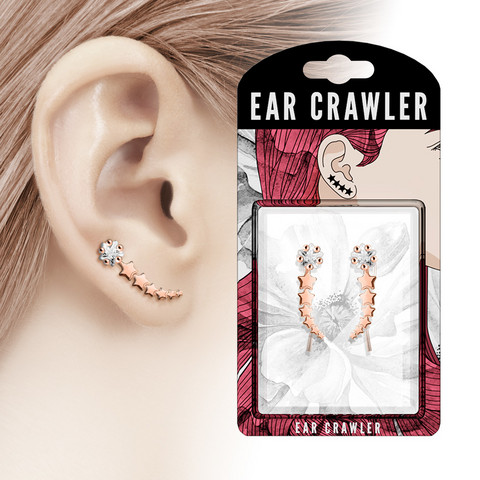 Ear Crawler/Ear Climber, Shooting Star (rosegold)