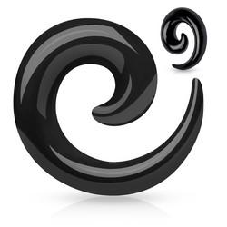 Venytyskoru, Acrylic Spiral in Black 5mm