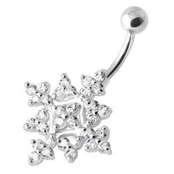 Hopeinen napakoru titaanivarrella, Luxorious Diamond Flower