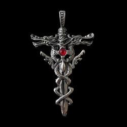 Kirurginteräsriipus, XL Dragon Sword (lohikäärme, miekka)