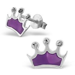 Hopeiset korvanapit, Violetti kruunu