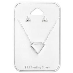 Hopeinen korusetti, MINIMALISM/Diamond
