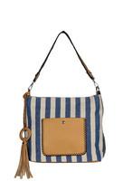 Laukku, BESTINI| Stripes Handbag in Blue