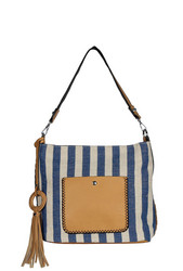 Laukku, BESTINI| Stripes Handbag in Blue