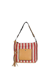Laukku, BESTINI| Stripes Handbag in Red