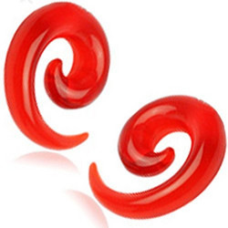 Venytyskoru, spiraali punainen 10mm