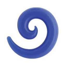 Venytyskoru, spiraali sininen 10mm (silikoni)