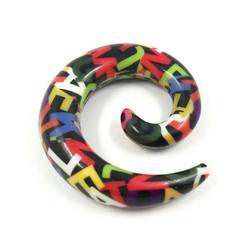 Venytyskoru, spiraali Letters 12mm