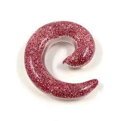 Venytyskoru, spiraali Pink Glitter 12mm (vaaleanpunainen)