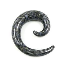Venytyskoru, spiraali Grey XL 12mm (harmaa)