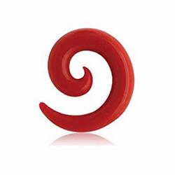 Venytyskoru, spiraali punainen 8mm (silikoni)