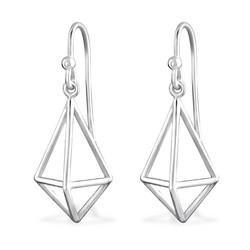 Hopeiset korvakorut, MINIMALISM/Diamond