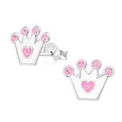 Hopeiset korvanapit, Valkoinen prinsessakruunu