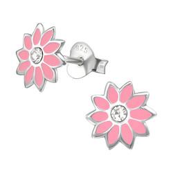 Hopeiset korvanapit, Vaaleanpunainen kukka